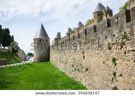 Medieval castle of Carcassonne, Languedoc - Roussillon province, France