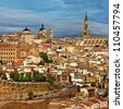 medieval cites of Spain - Toledo - stock photo