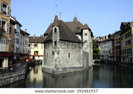 Medieval Old town and prison of Annecy, France