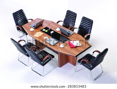 Meeting Table Top View Stock Photo 286457972 - Shutterstock
