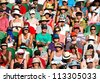 MELBOURNE - JANUARY 22: Crowd at the 2011 Australian Open Tennis on January 22, 2011 in Melbourne, Australia. - stock photo