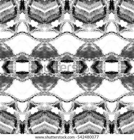 Melting seamless black and white pattern for design, textile and backgrounds
