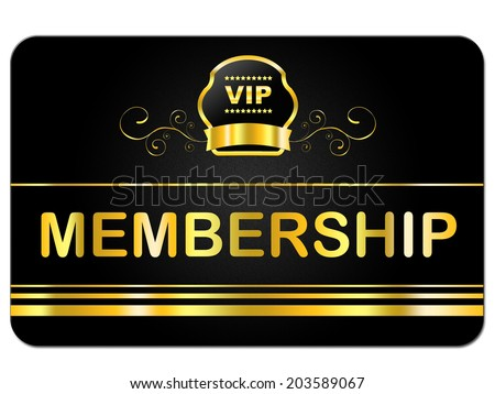 High Quality Membership Card Indicating Very Important Person And Rich Exclusivity