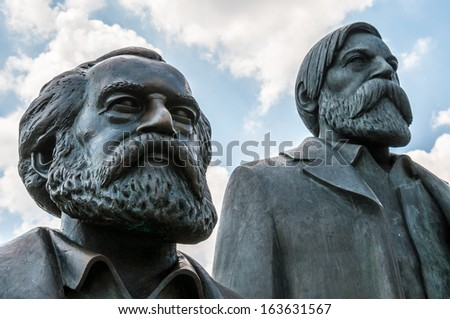memorial for Marx and Engels in Berlin
