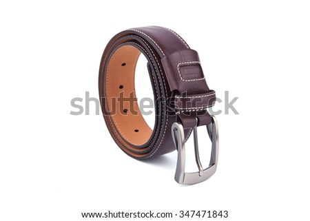Men's Belt isolated on a white background.