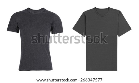 men's black with gray t-shirt
