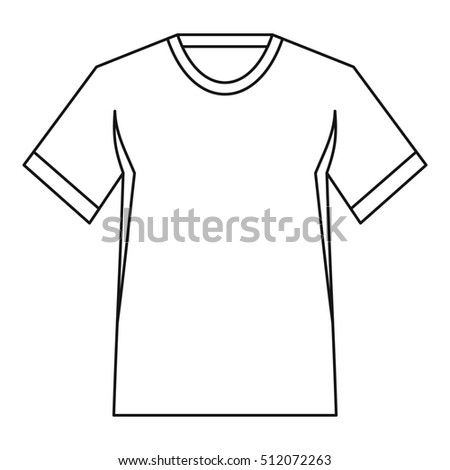 Blank White Tshirt Silhouette Isolated On Stock Vector