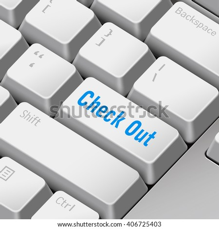 message on keyboard enter key for check out concepts. 3D rendering