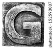 Metal alloy alphabet letter G - stock photo