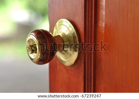Metal Brass Door Knob Open House