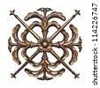 Metal decorative element - stock photo