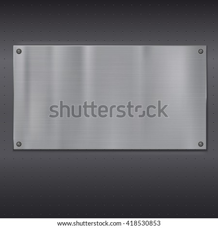 Metal plate over grate texture, illustration for your design.