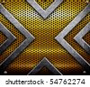 metal plate with X pattern - stock vector