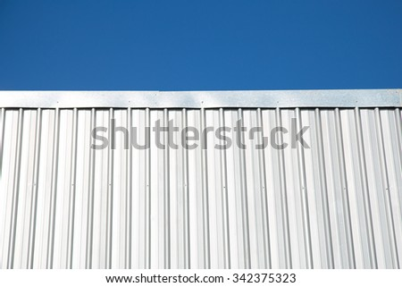 Metal sheet for industrial building and construction.