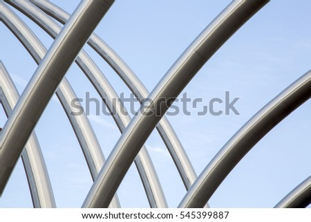Metal Structure Background on Motorway
