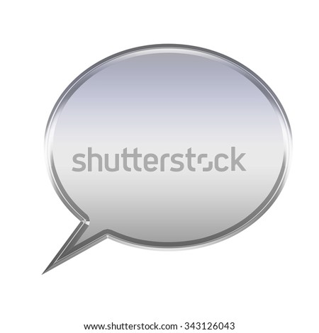 Metal tag, white background