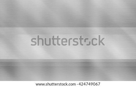 Metal texture background, brushed neutral surface, gray plate