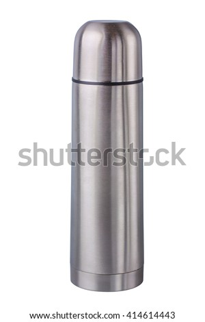 metal thermos. isolated on white background