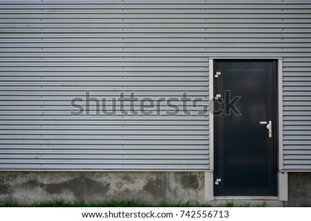 metal wall covering perspective view stack grey metal school stock illustration