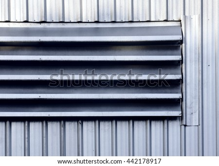 Metal Window Outlet Background