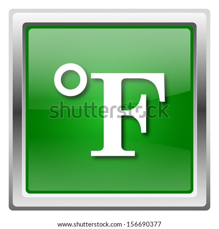Metallic icon with white design on green background