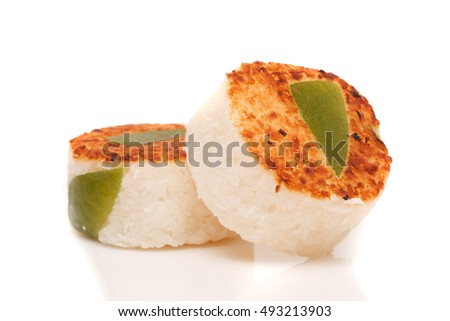 Mexican lemon and coconut sweet isolated in white background.