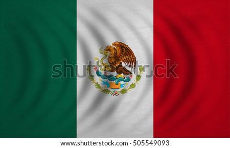 waving mexico flag silk stock illustration 314400659