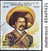 MEXICO - CIRCA 1978: A stamp printed in Mexico commemorates the centenary of the birth of Pancho Villa, circa 1978 - stock photo
