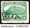 MEXICO - CIRCA 1923: a stamp printed in the Mexico shows Chapultepec Castle, Mexico City, circa 1923 - stock photo