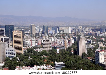 Mexico City downtown skyline