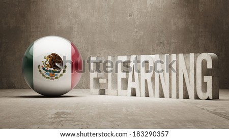 Mexico High Resolution E-Learning  Concept