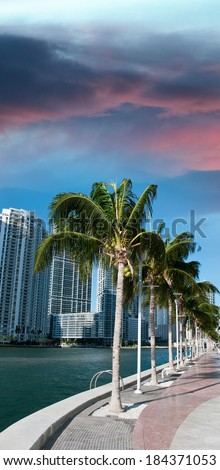 Miami, Florida. Beautiful view of coastline.