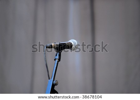 microphone standing on a scene