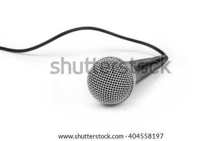 Microphone with its cable.