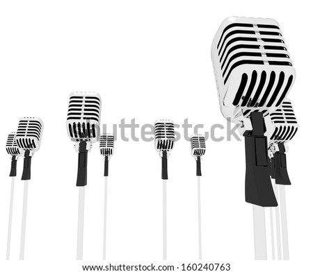 Microphones Speeches Showing Mic Music Performance Or Performing