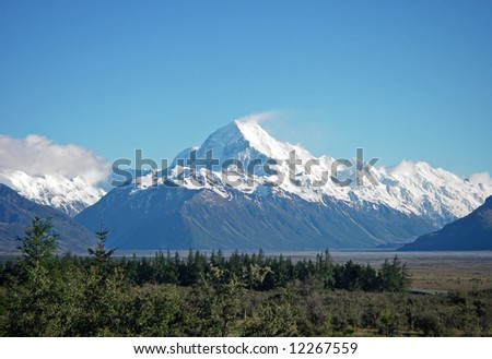 Mighty Mount Cook in New Zealand