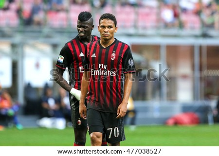 Milan, Italy, august 2016  Italy league Serie A 1day: Carlos Bacca during the football match between AC MILAN vs TORINO at San Siro stadium on august 21 2016