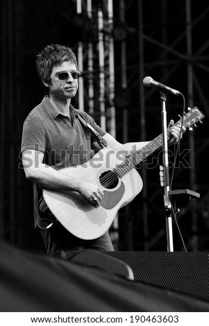 MILAN, ITALY - JULY 05: Musician Noel Gallagher performs live at the 2012 Heineken Jamming Festival on July 5, 2012 in Milan, Italy.