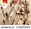 MILAN - MARCH 27: Panoramic view of people looking for arts books during MiArt ArtNow, international exhibition of modern and contemporary art March 27, 2010 in Milan, Italy. - stock photo