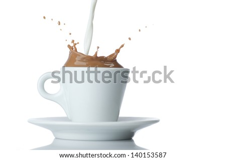 milk coffee splash