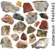 Mineral geology collection isolated - stock