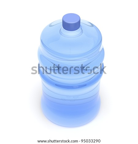 Mineral water bottle on white background