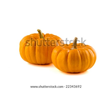 Mini Pumpkins Isolated 2