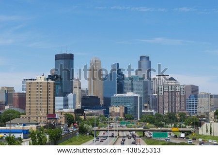 Minneapolis Downtown from South - Skyline Architecture