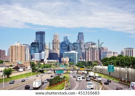 Skyline Minneapolis Minnesota Stock Photo 286585523 Shutterstock