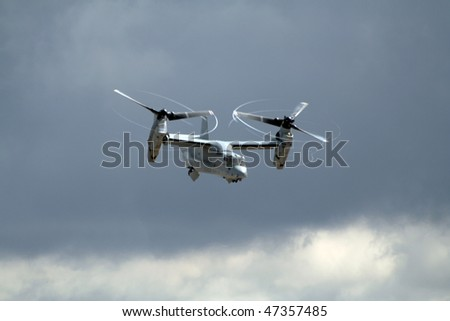 MIRAMAR, CALIFORNIA, USA - OCTOBER 15: Marines MV-22A Osprey performs at Miramar Air Show October 15, 2006 in Miramar, California, USA.