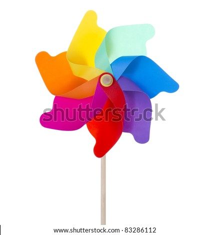 Mixed color Pinwheel, toy fan isolated on white/Flowers pinwheel isolated on white (XXXLarge)/Pinwheel isolated on white