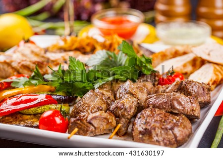 Mixed Grilled meat and vegetables
