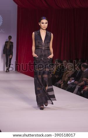 New York February 10 Model Walking Stock Photo 148865096 Shutterstock