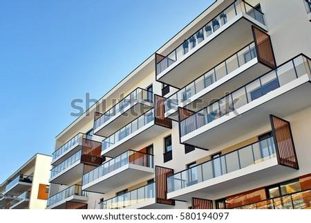 Facade Modern Apartment Building Stock Photo Shutterstock